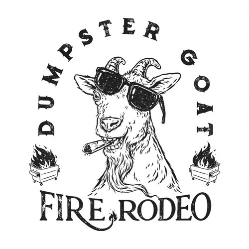 Fire t-shirt with the title 'Cigar goat'