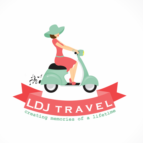 Stunning logo with the title 'New logo wanted for LDJ Travel'