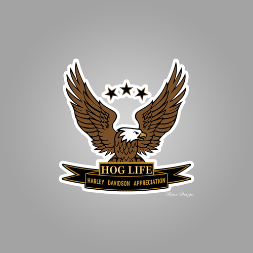 Hog design with the title 'HOG LIFE main logo'