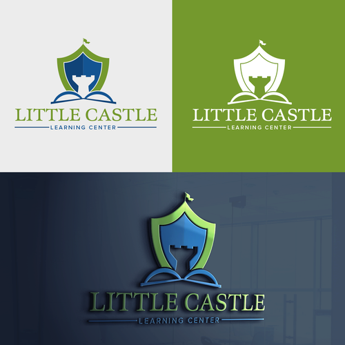 Learning center logo with the title 'Little Castle Logo'