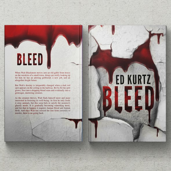 Bloody design with the title 'Simple, Crisp, Bloody - Horror Book Cover'