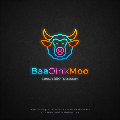 Sheep design with the title 'BaaOinkMoo'