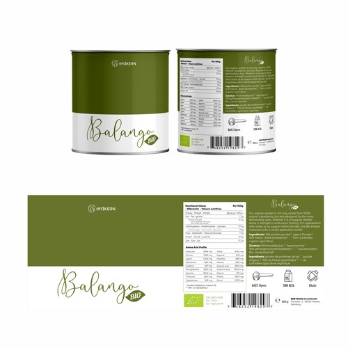 Canister packaging with the title 'Minimal Canister Feminine Concept'