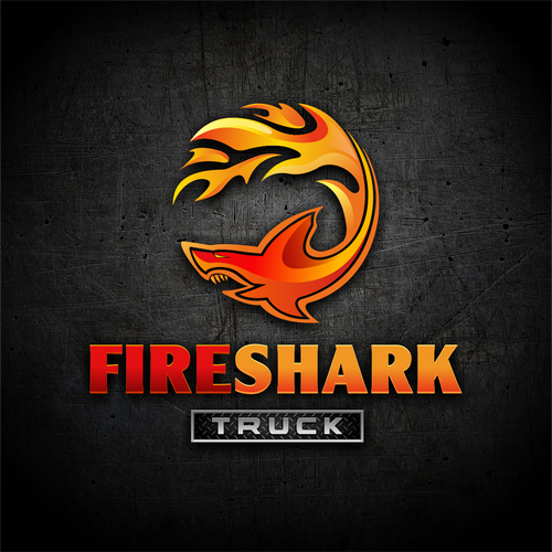 Truck logo with the title 'Fireshark'