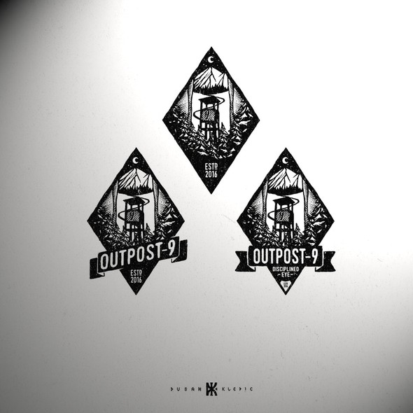 Road design with the title 'Outpost 9'