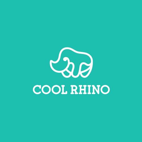 Rhino design with the title 'Cool Rhino'