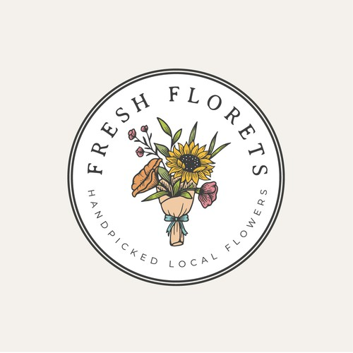 Clean logo with the title 'FRESH   CLEAN   FLORAL'