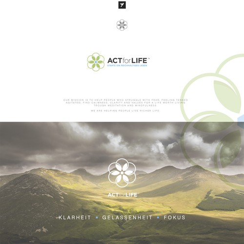 Blossom logo with the title 'Logo design for ACT for Life'