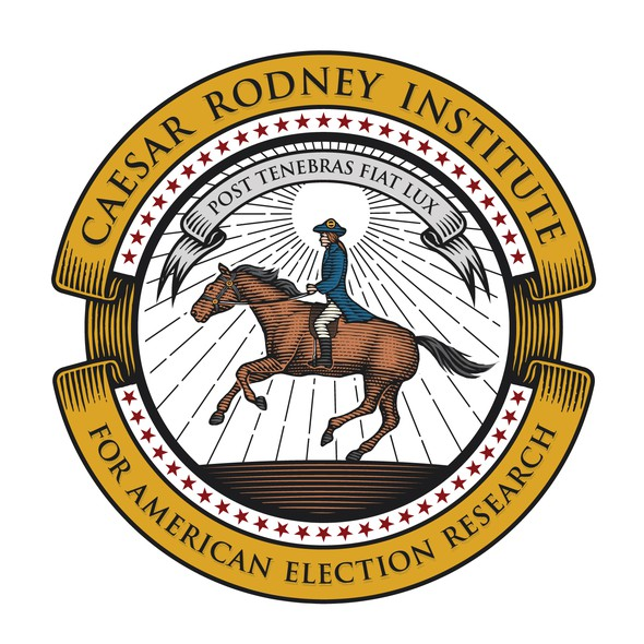 Seal logo with the title 'Caesar Rodney Institute for American Rlection Research'