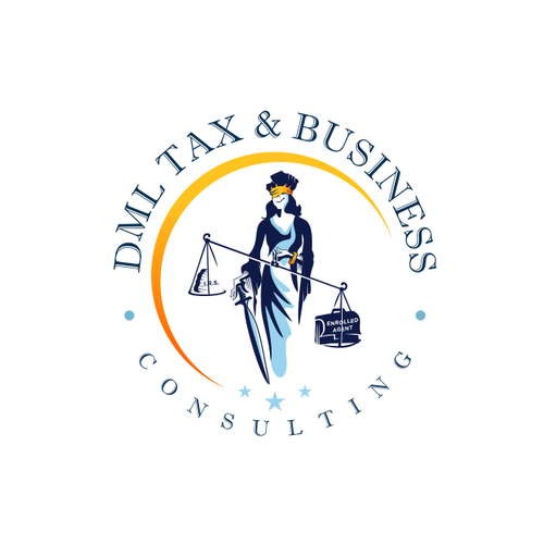 Justice design with the title 'DML Tax and Business Consulting'