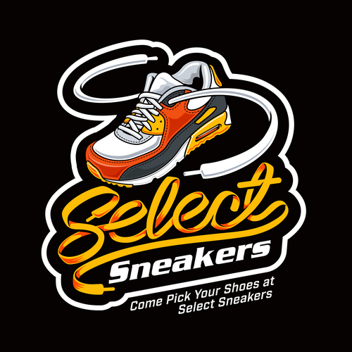 Sneaker design with the title 'Logo design for Sneaker store'