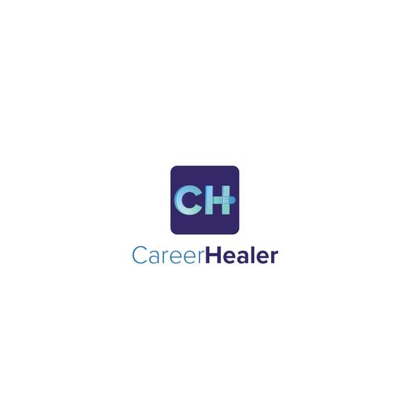 Career logo with the title 'CareerHealer logo design'