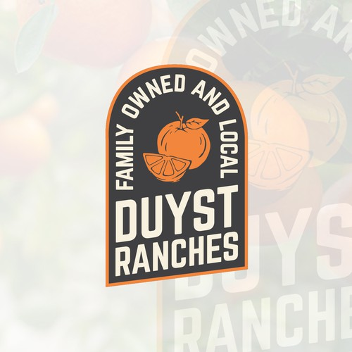 Citrus design with the title 'Duyst Ranches Logo Design'