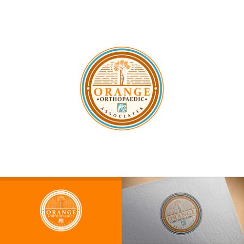 Orthopedic design with the title 'orange orthopadaedic associates'