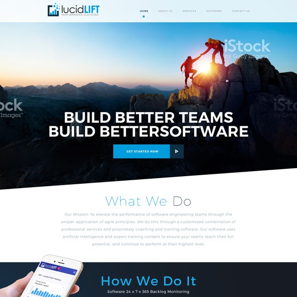 Responsive website with the title 'Webdesign for lucidLIFT'