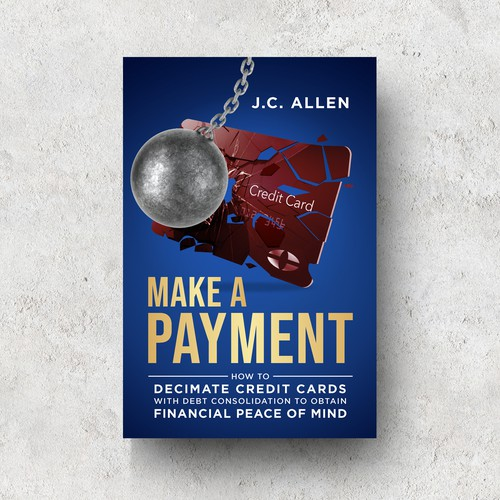 Credit card design with the title 'Make A Payment '