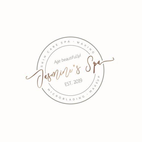 Wax logo with the title 'Jasmine's Spa'
