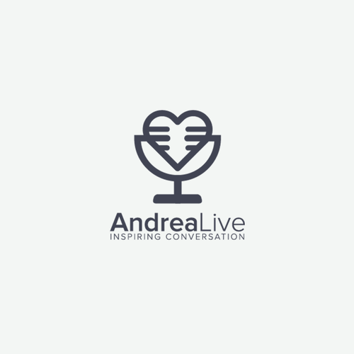 Microphone logo with the title 'Andrea Live'