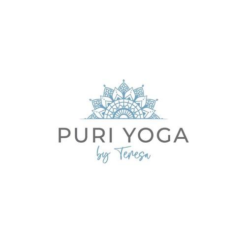 Ornamental design with the title 'Logo for yoga teacher '