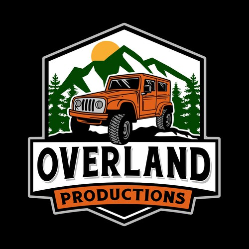 Jeep logo with the title 'Overland Productions'
