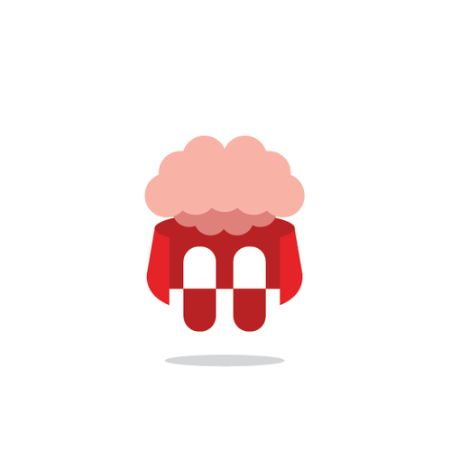 Hero logo with the title 'Brain pills. The focus formula that really works! Super Brain'