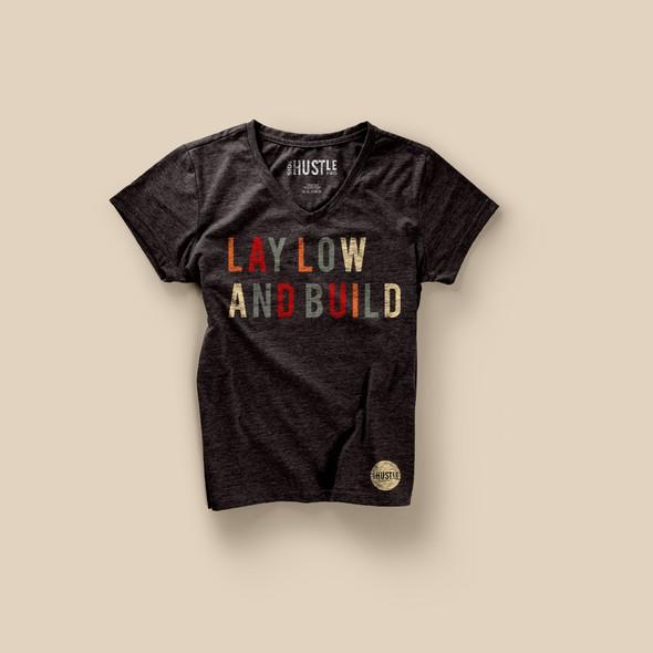 Hustle design with the title 'SIDE HUSTLE PRO PODCAST t-shirt design'