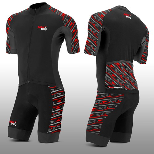 Cycling design with the title 'Modern Cycling Kit for Bikebug, Australia's Leading Bicycle Retailer'