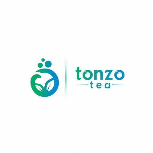 Boba logo with the title 'Tonzo Tea'