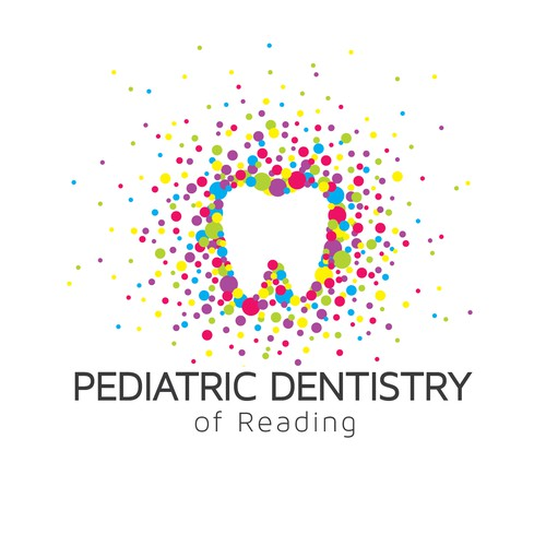 Pediatric design with the title 'Modern Pediatric Dentist Logo'