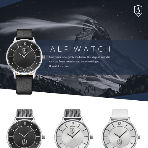 Clown logo with the title 'alp watch'