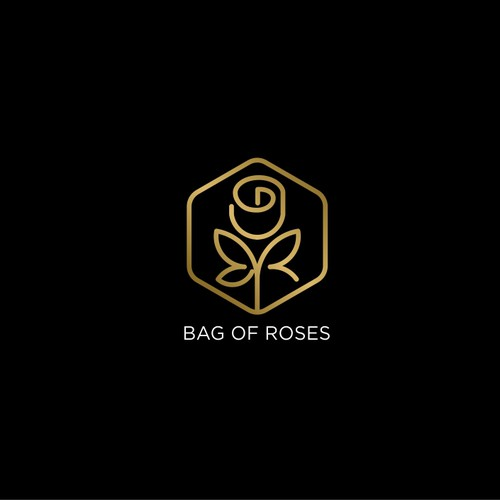 Rose logo with the title 'Bag of Roses Logo'