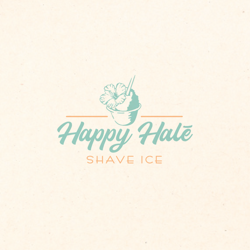 Hawaiian design with the title 'Logo concept for ice food truck'