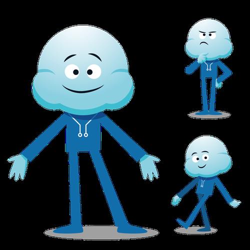 Futuristic design with the title 'mascot'