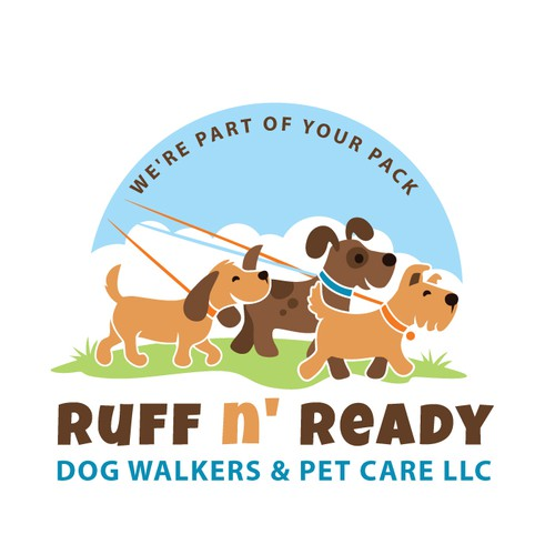 Walking design with the title 'Ruff N' Ready'