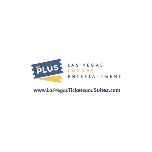 Ticket design with the title 'Logo for Las Vegas Ticket Broker'