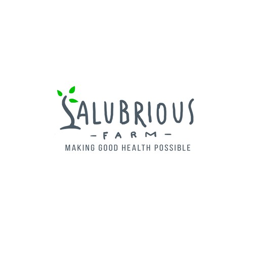 Wellness brand with the title 'Salubrious Farms Logo'
