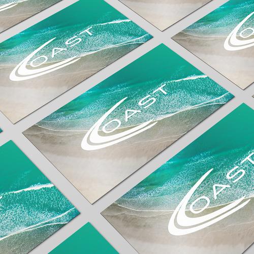 Coastal logo with the title 'Coast Beachwear'