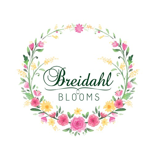 Spring design with the title 'beautiful and colourful logo for a bespoke florist'