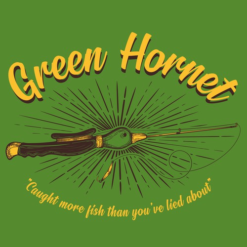 Old school t-shirt with the title 'Green Hornet'