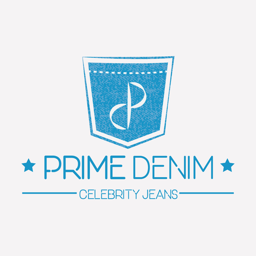 Jeans logo with the title 'Logo Concept for Prime Denim'