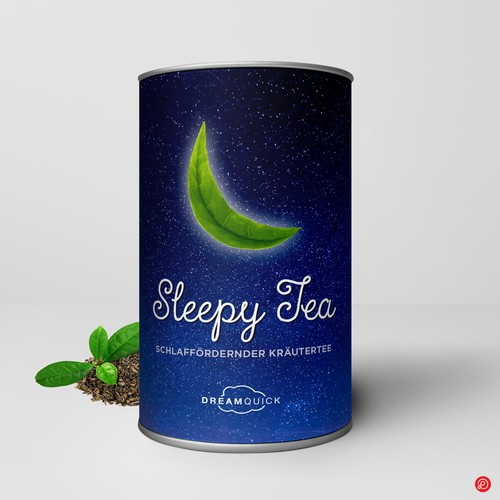 Tea label with the title 'Tea packaging design'