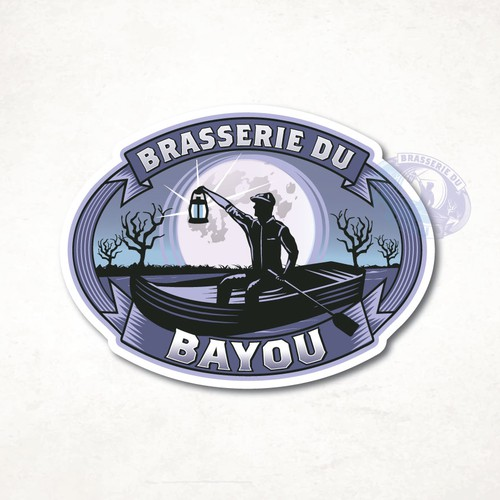 Night design with the title 'Brasserie Du Bayou'