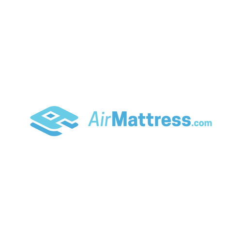 Blue and white logo with the title 'A logo for AirMattress.com'