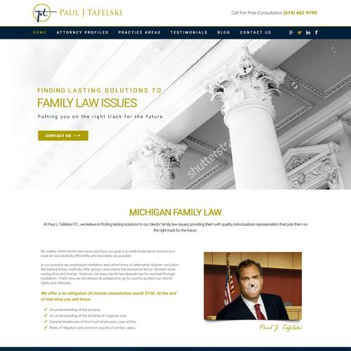 Whitespace design with the title 'Landing Page - Paul J. Tafelski. P.C.'