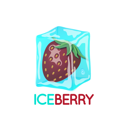Yogurt logo with the title 'Ice Berry logo'