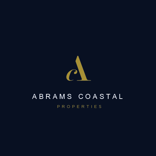 Elegant brand with the title 'Abrams Coastal Properties'