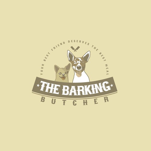 Butcher logo with the title 'The Barking Butcher'