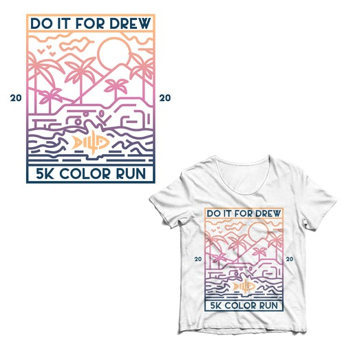 Tropical t-shirt with the title 'Shirt Design Concept for Do it For Drew'