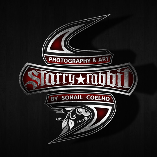 Grunge logo with the title 'Logo design for Starry Rabbit'