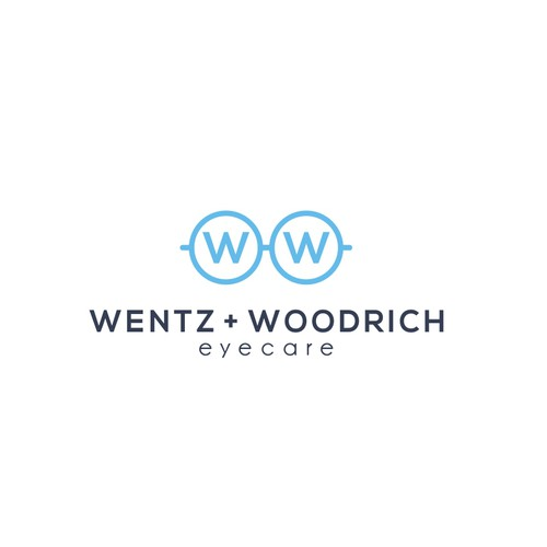 Optics logo with the title 'Wentz + Woodrich Eyecare'